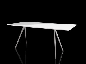 View Magis Baguette Rectangular Dining Table White Glass