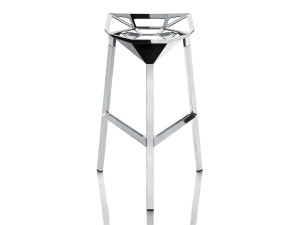 View Magis Stool One Bar Stool Polished Aluminium