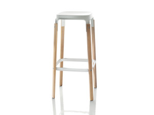 View Magis Steelwood Bar Stool White and Beech