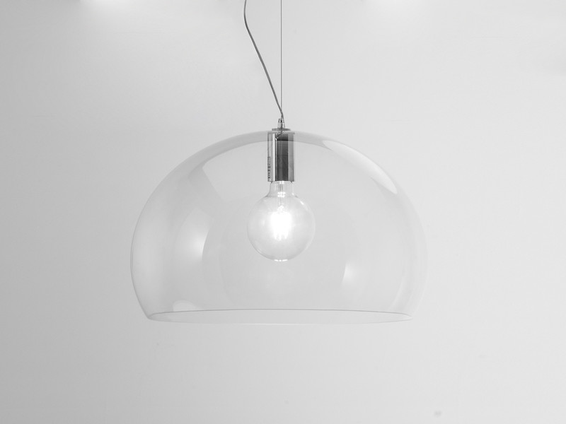 Buy The Kartell Small Fly Suspension Light Crystal At Nest