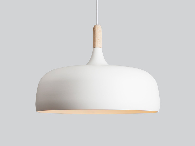Northern acorn pendant light white