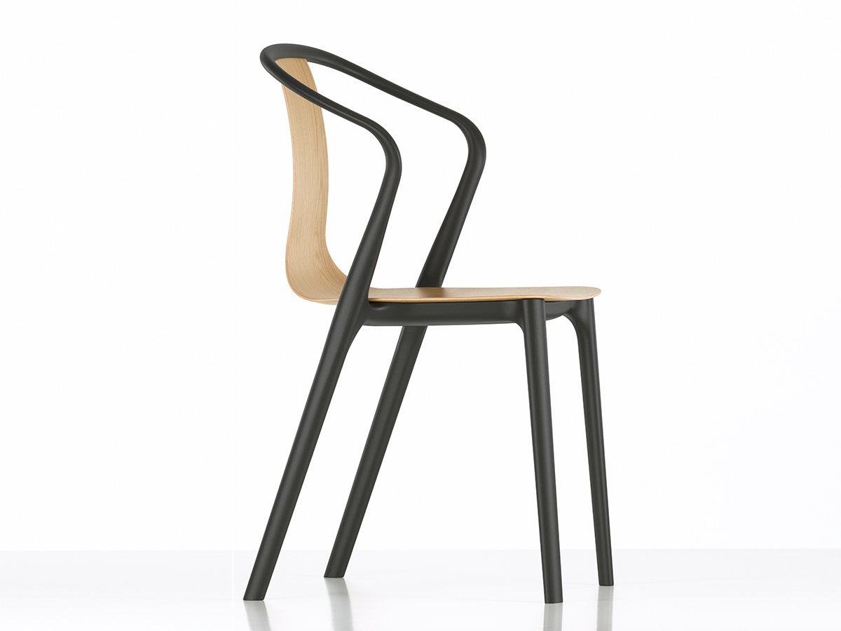 buy the vitra belleville armchair wood at nest co uk