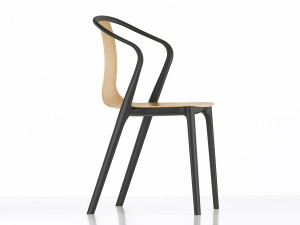 View Vitra Belleville Armchair Wood