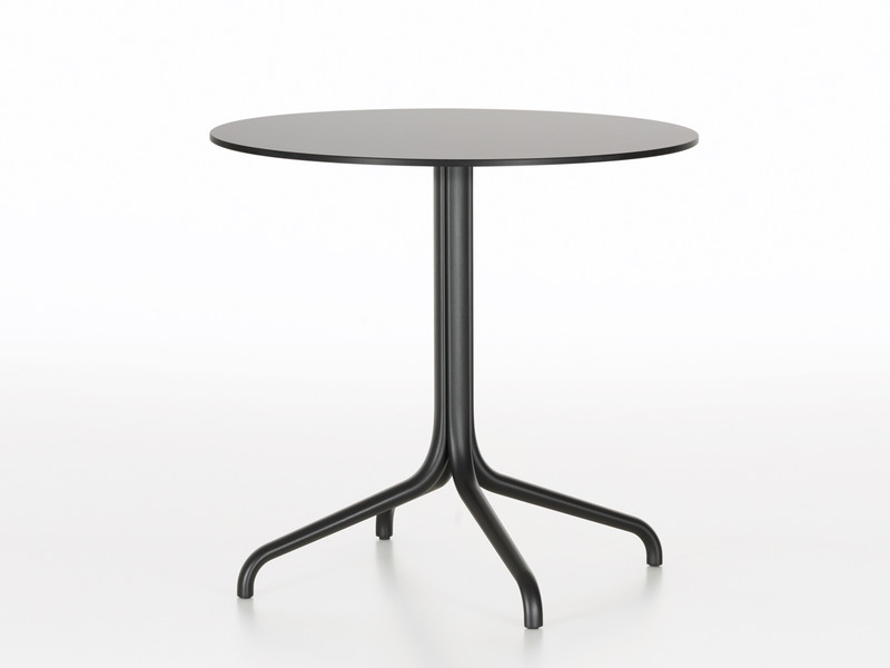 Buy The Vitra Belleville Cafe Table Round Outdoor At Nestcouk - Round metal cafe table