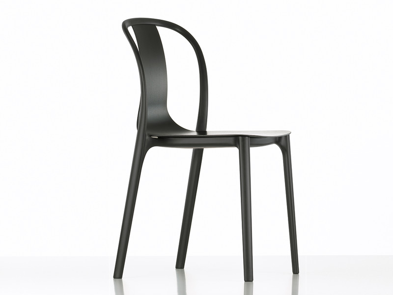 buy the vitra belleville side chair wood at nest co uk