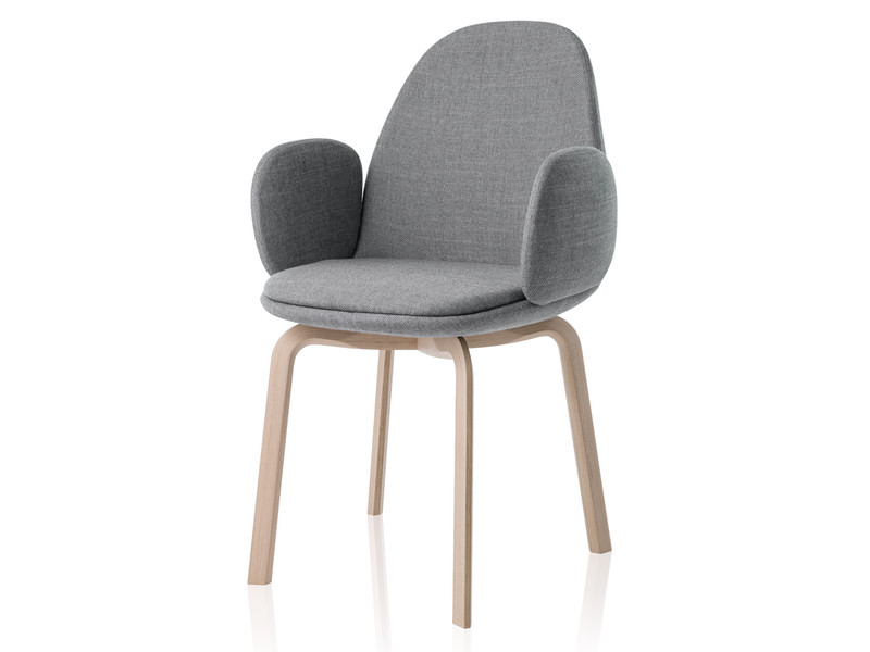 Buy The Fritz Hansen Sammen Armchair Oak Legs At