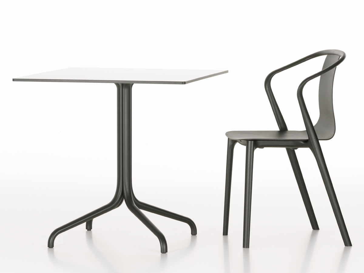 buy the vitra belleville cafe table square outdoor at. Black Bedroom Furniture Sets. Home Design Ideas