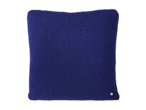 Ferm Living Quilt Cushion Dark Blue