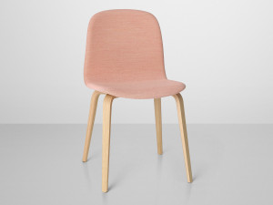 Muuto Visu Chair Wooden Base Upholstered - Rose