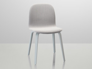 Muuto Visu Chair Wooden Base Upholstered - Light Grey