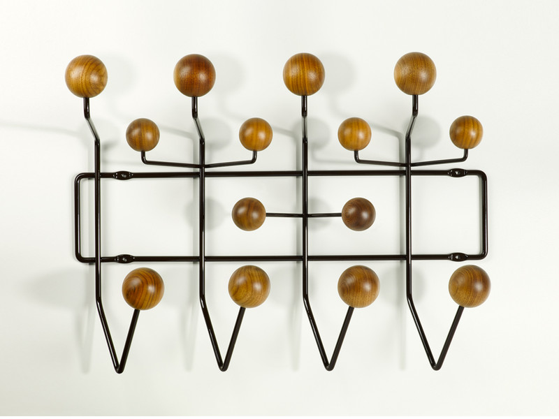 buy the vitra eames hang it all walnut chocolate at. Black Bedroom Furniture Sets. Home Design Ideas