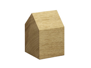 E15 AC10 Haus Paper Weight Oak