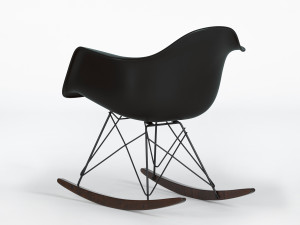 Vitra RAR Eames Plastic Armchair Black