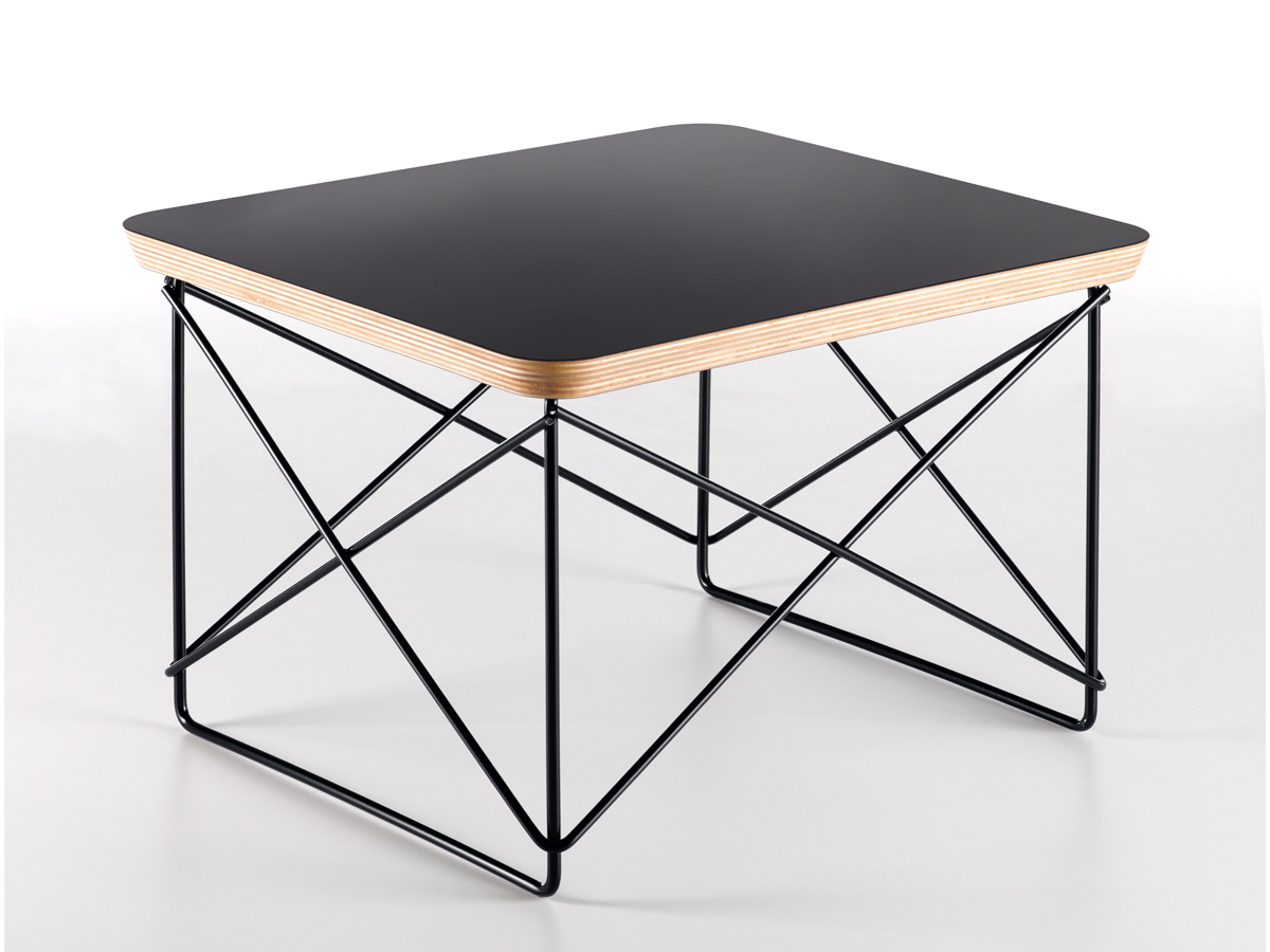 Buy The Vitra Eames Ltr Occasional Table Black Base At