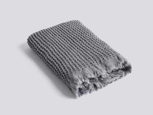 View Hay Waffle Towel Dark Grey