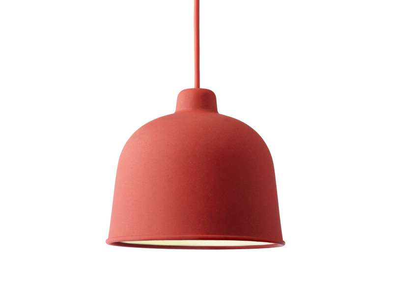 red pendant lighting. muuto grain pendant light red lighting d