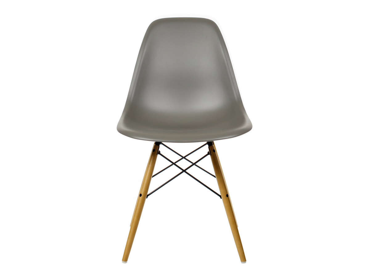 buy the vitra dsw eames plastic side chair golden maple. Black Bedroom Furniture Sets. Home Design Ideas