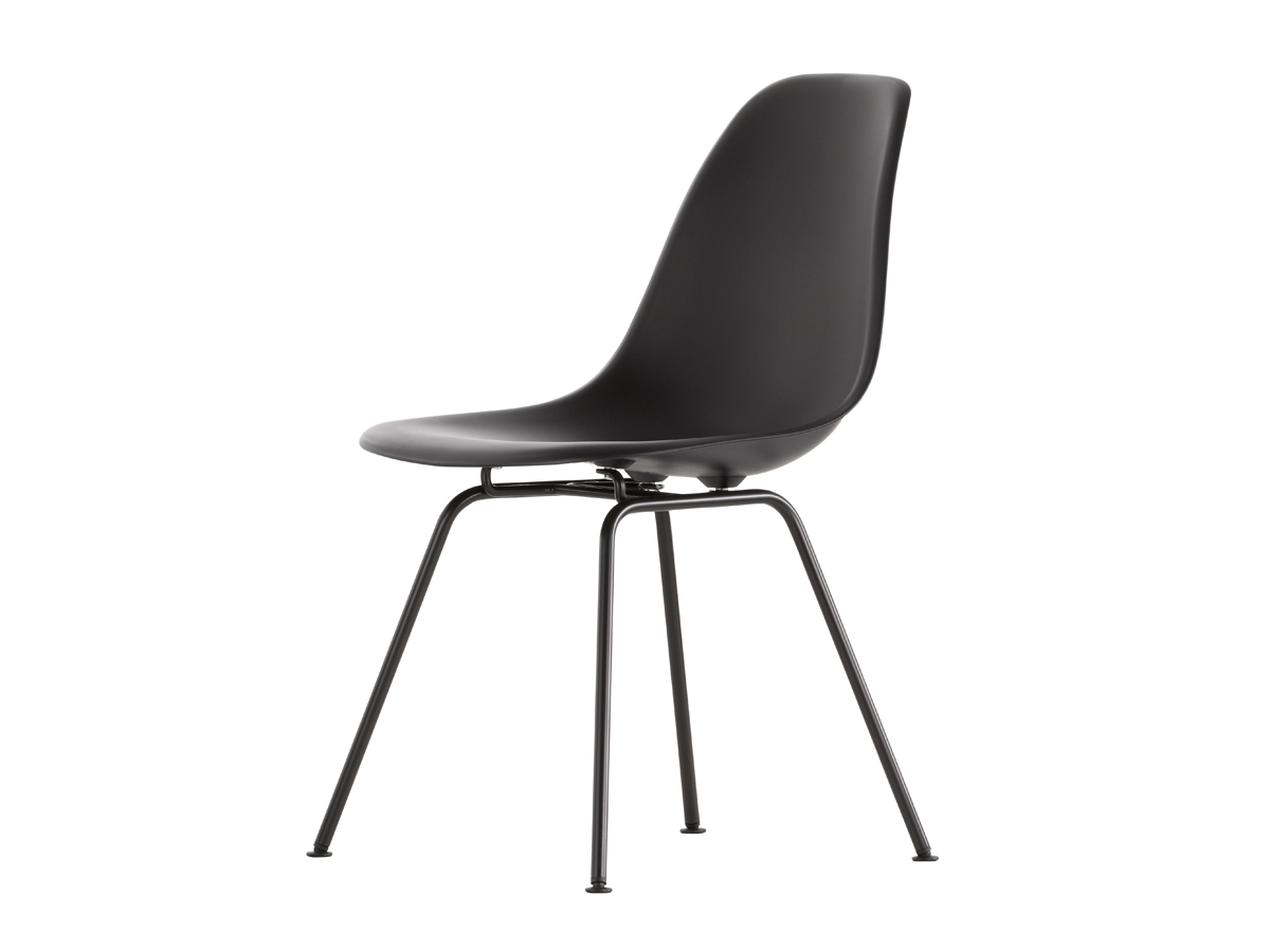 Buy the vitra dsx eames plastic side chair black base at for Chair design basics