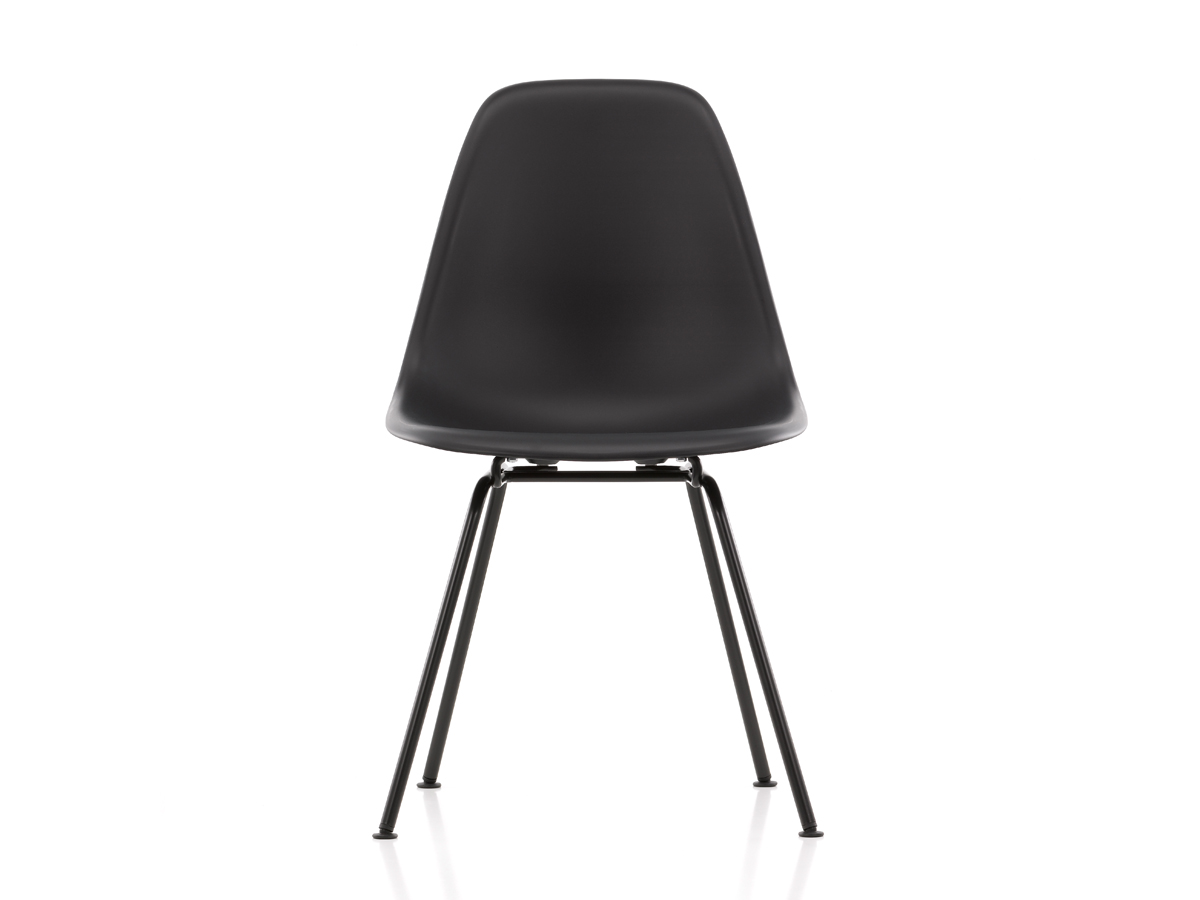 buy the vitra dsx eames plastic side chair black base at. Black Bedroom Furniture Sets. Home Design Ideas