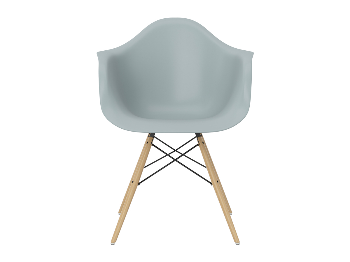 Buy the vitra daw eames plastic armchair golden maple base for Vitra eames plastic armchair replica