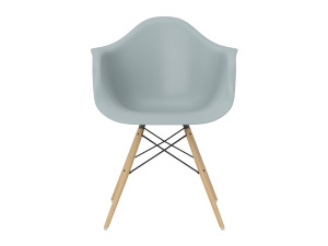 View Vitra DAW Eames Plastic Armchair Yellowish Maple Base
