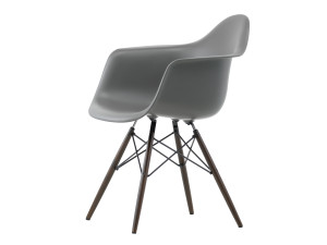 View Vitra DAW Eames Plastic Armchair Dark Maple Base