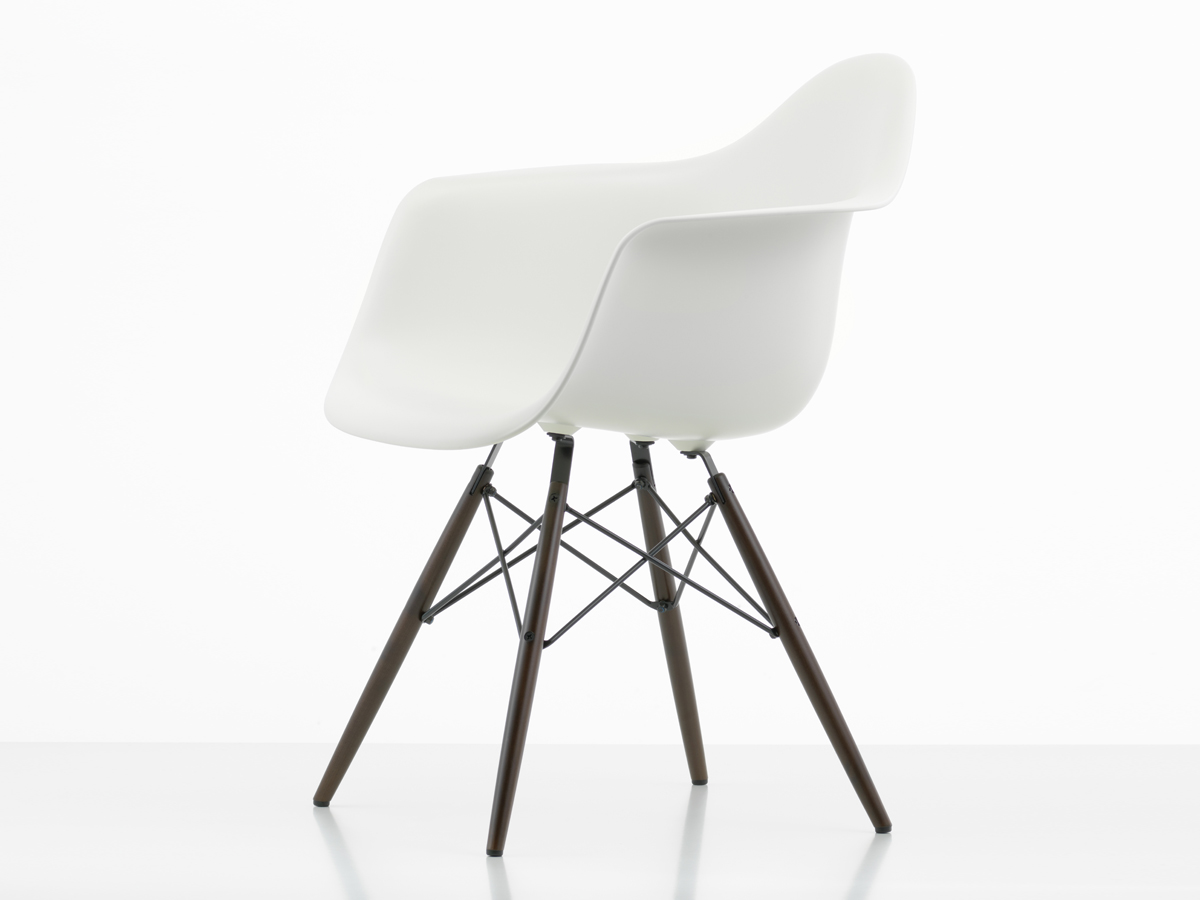 Vitra DAW Eames Plastic Armchair Dark Maple Base