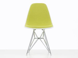 View Vitra Upholstered DSR Eames Plastic Side Chair