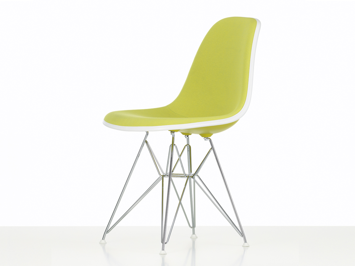 Buy The Vitra Upholstered DSR Eames Plastic Side Chair At