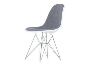 Vitra Upholstered DSR Eames Plastic Side Chair