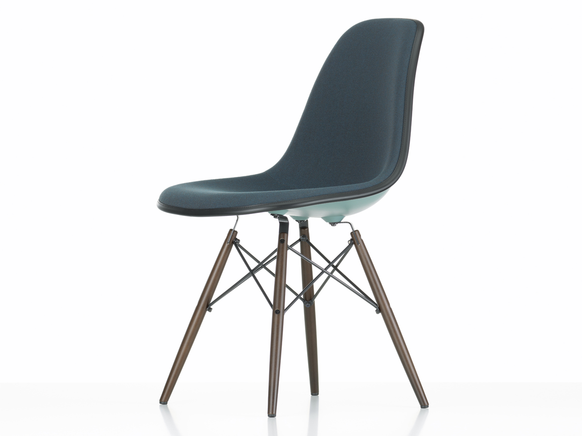 buy the vitra upholstered dsw eames plastic side chair ocean at. Black Bedroom Furniture Sets. Home Design Ideas