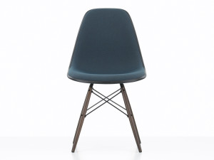 View Vitra Upholstered DSW Eames Plastic Side Chair Ocean