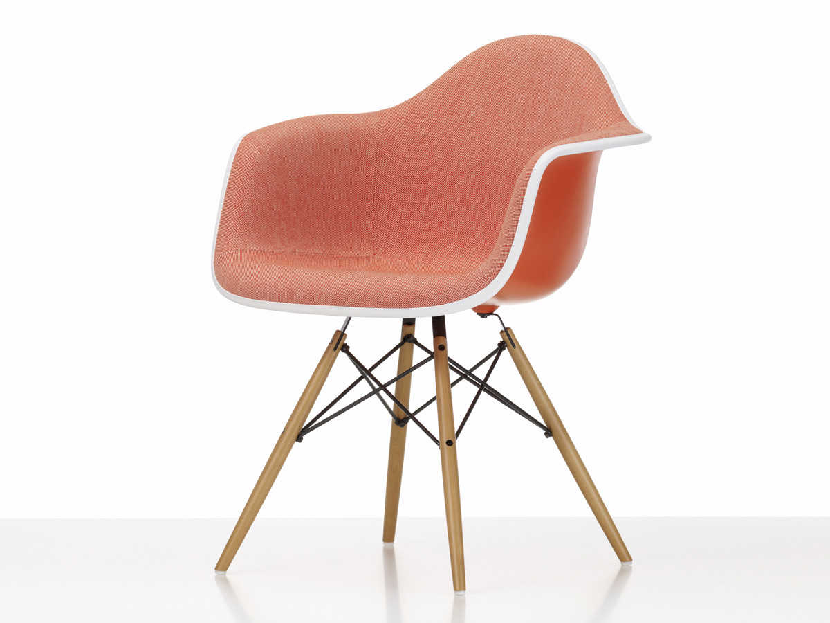 Buy the vitra upholstered daw eames plastic armchair at for Eames chair vitra replica
