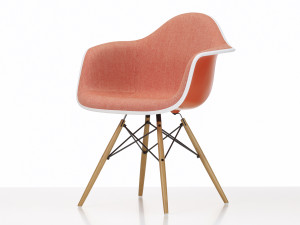 View Vitra Upholstered DAW Eames Plastic Armchair