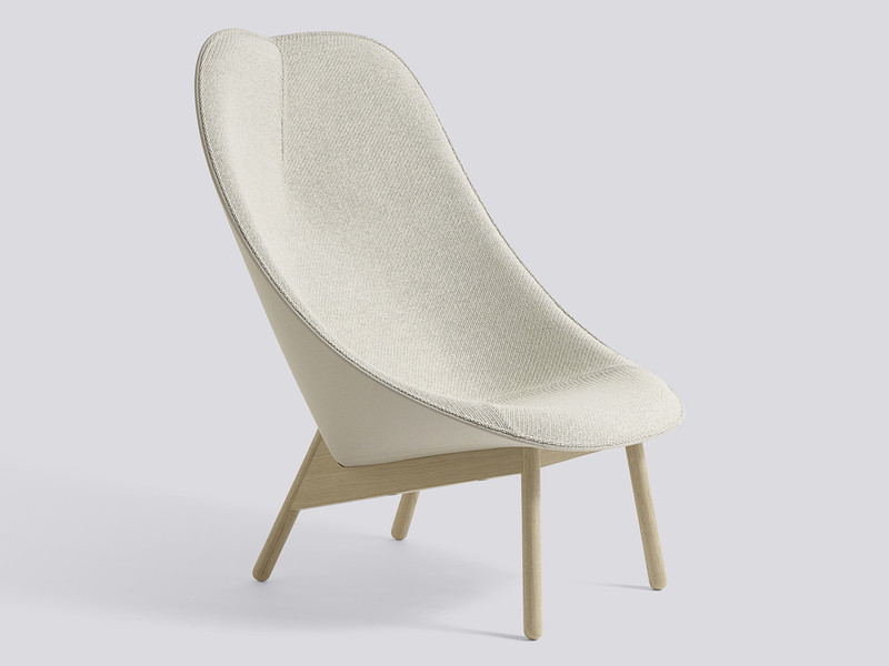 Hay Uchiwa Lounge Chair Soaped Oak Base