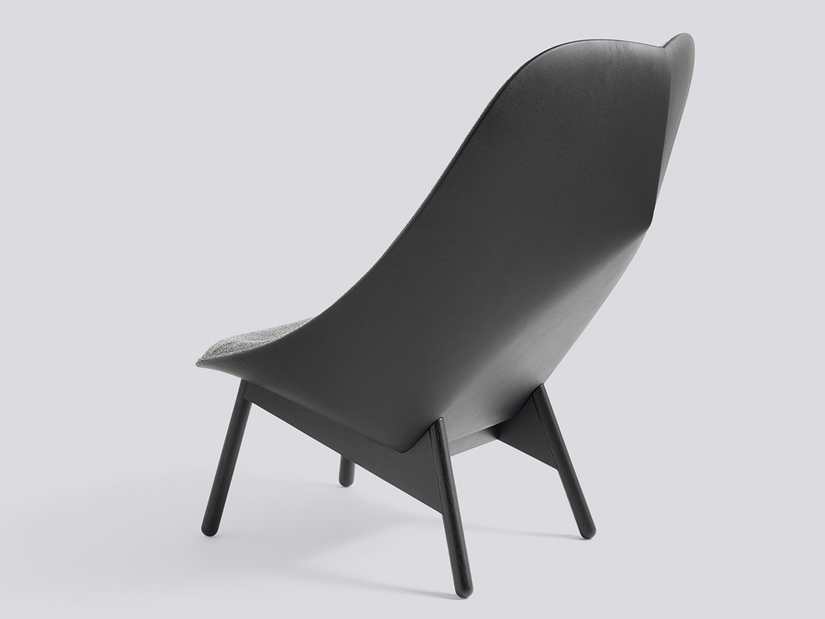 buy the hay uchiwa lounge chair black base at. Black Bedroom Furniture Sets. Home Design Ideas