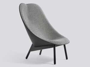 Hay Uchiwa Lounge Chair Black Base