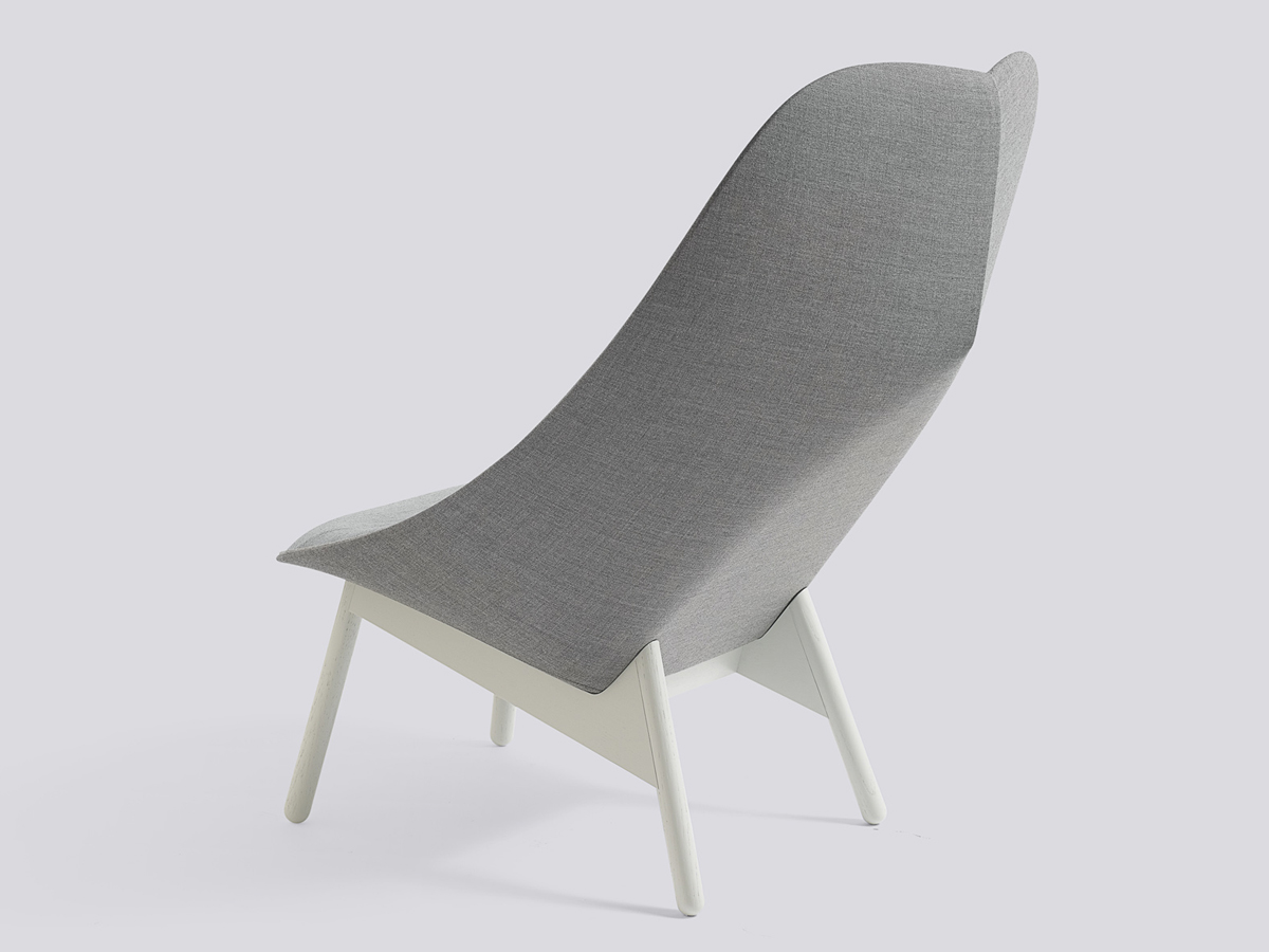 buy the hay uchiwa lounge chair grey base at. Black Bedroom Furniture Sets. Home Design Ideas
