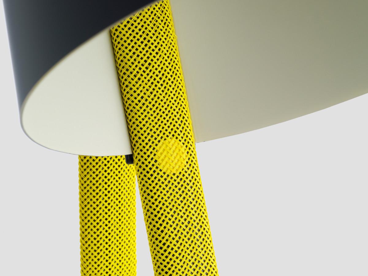 Yellow floor lamp -  Hay Rope Trick Floor Lamp