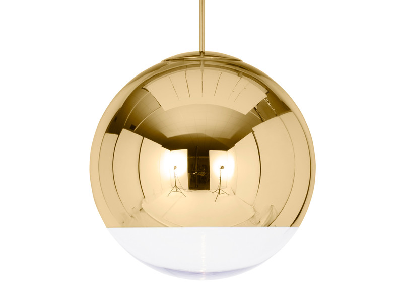 Buy The Tom Dixon Mirror Ball Pendant Light Gold At Nest Co Uk