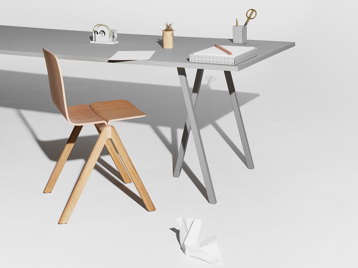 buy the hay loop stand table grey at. Black Bedroom Furniture Sets. Home Design Ideas