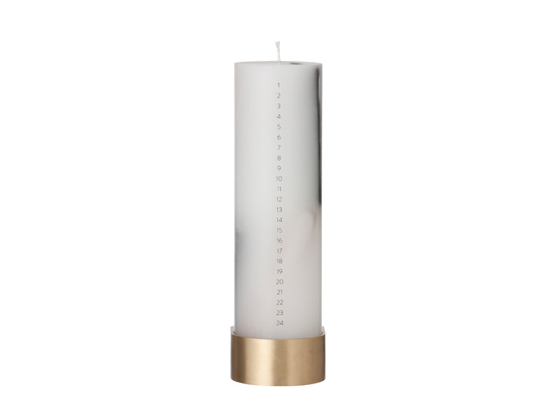 Ferm Living Calendar Candle with Block Candle Holder
