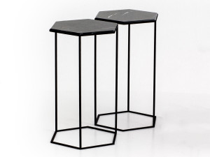 View Diesel with Moroso Hexxed Side Table Black