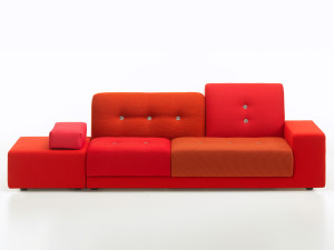 View Vitra Polder Sofa Red