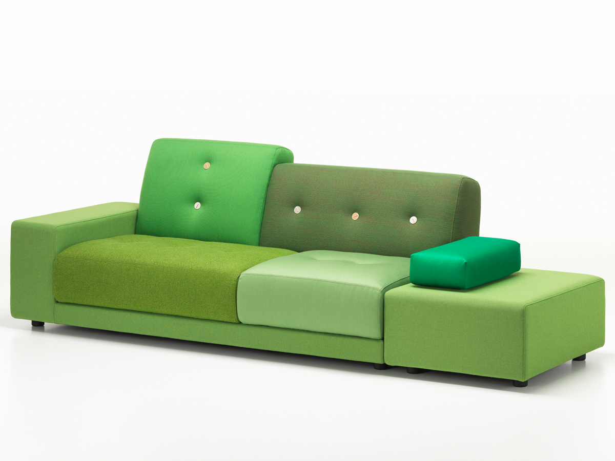 buy the vitra polder sofa green at nestcouk -  vitra polder sofa green