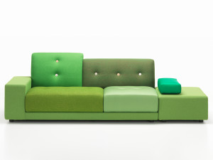 View Vitra Polder Sofa Green