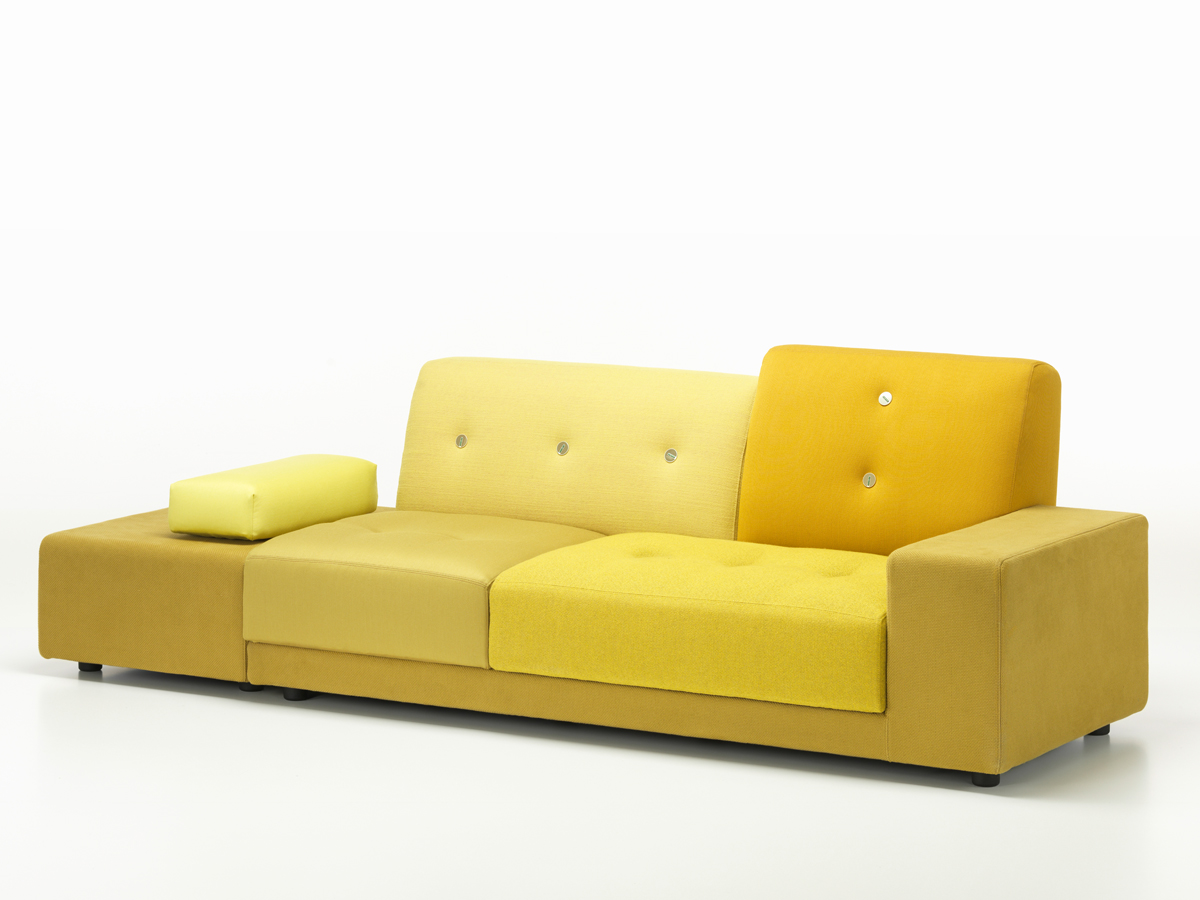 buy the vitra polder sofa golden yellow at. Black Bedroom Furniture Sets. Home Design Ideas