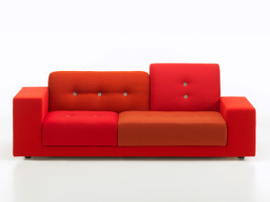 View Vitra Polder Compact Sofa Red