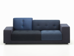 View Vitra Polder Compact Sofa Night Blue