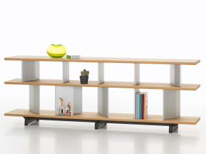 View Vitra Planophore Wide Bookshelf Low